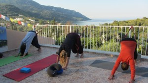 Yin Yoga Korfu mit Meerblick